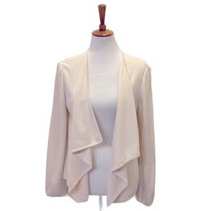 St John open front waterfall cardigan cream, M